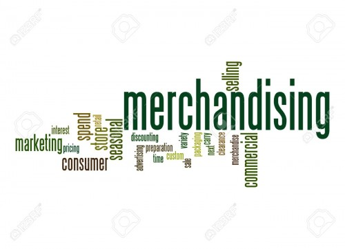 Merchandising word cloud